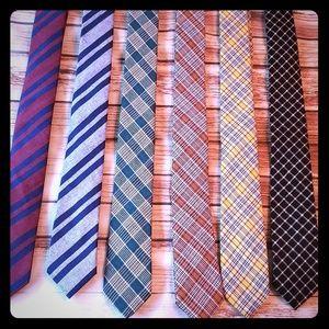 6 pc Set Mens Skinny Ties